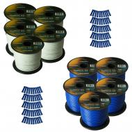 Harmony Audio Primary Single Conductor 16 Gauge Power or Ground Wire - 10 Rolls - 1000 Feet - Whi...