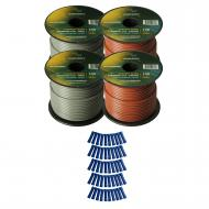 Harmony Audio Primary Single Conductor 16 Gauge Power or Ground Wire - 4 Rolls - 400 Feet - Gray ...