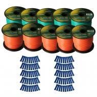 Harmony Audio Primary Single Conductor 16 Gauge Power or Ground Wire - 10 Rolls - 1000 Feet - Gre...