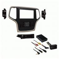 Metra 99-6536BZ 2014-2019 Jeep Grand Cherokee Bronze Single Double DIN Dash Kit