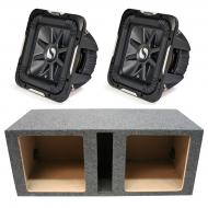 "Kicker 11S15L74 Solobaric L7 Subwoofer Dual 15"" Vented Sub Enclosure Box New"