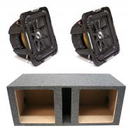 "Kicker 11S12L74 Solobaric L7 Subwoofer Dual 12"" Vented Sub Enclosure Box New"