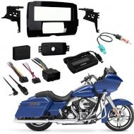 Harley Davidson Roadglide 2015 Single DIN Stereo Harness Radio Install Dash Kit