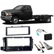 Ram Chassis Cab 3500 4500 5500 2012 Stereo Radio Install Dash Kit Package New