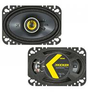 "Kicker 46CSC464 Car Audio 4x6"" Coaxial Full Range Stereo Speakers Pair CSC46"