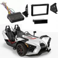 Polaris Slingshot 2015-2017 Single or Double DIN Stereo Radio Install Dash Kit