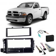 Ram 1500 2500 3500 2012 Single DIN Stereo Harness Radio Install Dash Kit Package