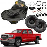 GMC Sierra 1500 Crew Cab 2014-2018 Factory Speaker Upgrade Harmony R69 R65