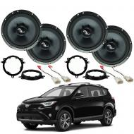 Toyota RAV-4 2014-2018 Premium Speaker Upgrade Package Harmony C65 Speakers New