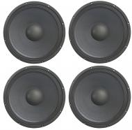 "4x Harmony HA-P15WS8 Replacement 15"" Pro PA 800W Sub / Speaker 8 Ohm Woofer"