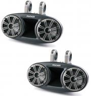 "Kicker KMT674 6.75"" Speakers Weather-Proof Marine Full-Range Tower System (41KMT674)"
