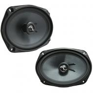 "Harmony Audio HA-C69 Car Stereo Carbon 6x9"" Replacement 500W Speakers & Grills"