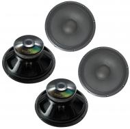 "4x Harmony HA-P15LS16 Replacement 15"" Pro PA 1000W Subwoofer - Speaker 16 Ohm"