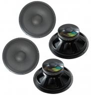 """4x Harmony HA-P15LS8 Replacement 15"""" Pro PA 1000W Subwoofer - Speaker 8 Ohm"""