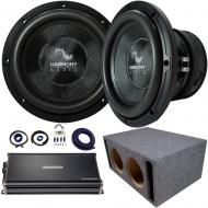 "Harmony Audio HA-C152 Competition Dual 15"" Sub 2800W Vented Sub Box & CXA18001"