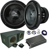 "Harmony Audio HA-C154 Competition Dual 15"" Sub 2800W Ported Sub Box & CXA12001"