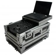 "Harmony HC10MIXLT Flight Ready DJ Laptop Glide 10"" Mixer Case fits Gemini MM-1"