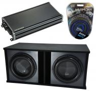 "Harmony Audio HA-ML151 Loaded Dual 15"" Sub 6400W Ported SPL Sub Box & CXA1800.1"