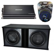 "Harmony Audio HA-ML152 Loaded Dual 15"" Sub 6400W Ported SPL Sub Box & CXA1800.1"
