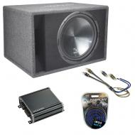 "Harmony Audio Single 15"" Loaded Sub Box Vented Enclosure & CXA400.1 Amp Package"
