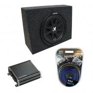 "Universal Regular Standard Cab Truck Kicker Comp C10 Single 10"" Sub Box Enclosure & CXA4..."