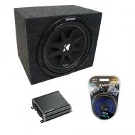 "Universal Car Stereo Rearfire Sealed Single 10"" Kicker Comp C10 Sub Box Enclosure & CXA4..."