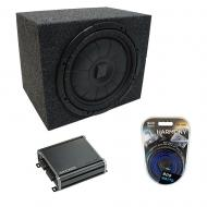 "Universal Car Stereo Rearfire Sealed Single 10"" Kicker CompVT CVT10 Sub Box Enclosure & ..."