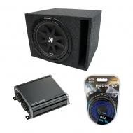 "Universal Car Stereo Vented Port Single 10"" Kicker Comp C10 Sub Box Enclosure & CXA400.1..."