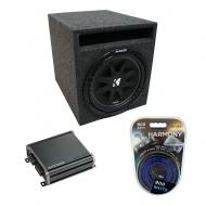 "Universal Car Stereo Slotted S Port Single 10"" Kicker Comp C10 Sub Box Enclosure & CXA40..."