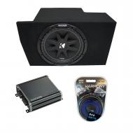 "2005-2014 Ford Mustang Coupe Kicker Comp C12 Single 12"" Sub Box Enclosure & CXA400.1 Amp"