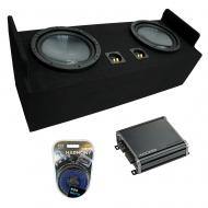 """1983-2012 Ford Ranger Extended Cab Truck Harmony R124 Dual 12"""" Loaded Sub Box Bundle with Ki..."""