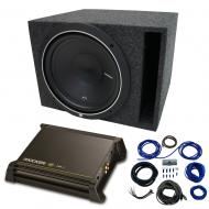 """Single 10"""" Rockford Fosgate P1 Sub Package with Kicker 11DX250.1 Refurbished Amp & Vente..."""