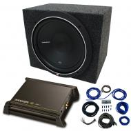 "Single 15"" Rockford Fosgate P1 Sub Package with Kicker 11DX250.1 Refurbished Amp & Seale..."