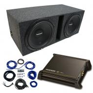 """Dual 10"""" Rockford Fosgate Prime Sub Package with Kicker 11DX250.1 Refurbished Amp & Vent..."""