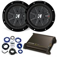 """Dual 6.75"""" Kicker CompRT Sub Package with Kicker 11DX250.1 Amp"""