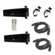 Chauvet Scorpion Bar RG DJ Lighting Aerial Effects (2) with Infrared Remote Control for Lighting ...