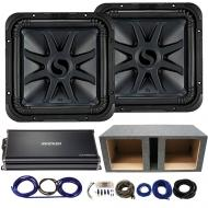 """Kicker 44L7S152 15"""" L7 Subwoofers with 43CXA18001 Amplifier & Vented Sub Box"""