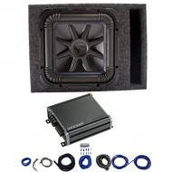 Kicker L7S12 Solo-Baric Subwoofer Vented Box with 46CXA8001 Amp & Install Kit