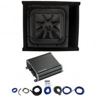 Kicker L7S12 Solo-Baric Subwoofer Ported Box with 46CXA8001 Amp & Install Kit