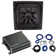 Kicker L7S12 Solo-Baric Subwoofer Sealed Box with 46CXA8001 Amp & Install Kit