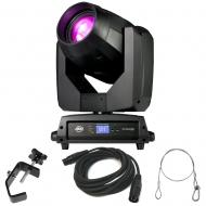 American DJ Vizi BSW 300 Moving Head Hyrbid Light with DMX Cable, Clamp, & Safety Cable