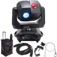 American DJ 3 Sixty 2R Dual Moving Head Light with DMX Cable, Arriba Rolling Bag, Heavy Duty C-Cl...