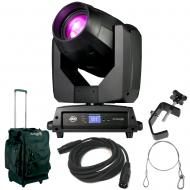 American DJ Vizi BSW 300 Moving Head Hyrbid Light with Rolling Bag, DMX Cable, Clamp, & Safet...