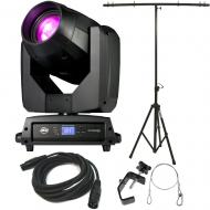 American DJ Vizi BSW 300 Moving Head Hyrbid Light with Tripod Stand, DMX Cable, Clamp, & Safe...
