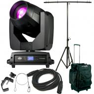 American DJ Vizi BSW 300 Moving Head Hyrbid Light with Tripod Stand, Rolling Bag, DMX Cable, Clam...