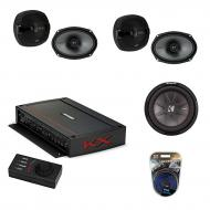 "Kicker Car Audio 5 Channel Amplifer with 10"" 400W RMS 4-Ohm DVC Car Subwoofer,KS Series 6x9&..."
