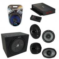 "Kicker Car Audio 5 Channel Amplifer with 10"" 400W RMS 4-Ohm DVC Car Subwoofer, KS Series 6 1..."