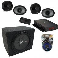 "Kicker Car Audio 5 Channel Amplifer Bundle with 10"" 400W RMS 4-Ohm DVC Car Subwoofer, KS Ser..."