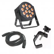 American DJ 12P HEX LED Flat Par Wash Lighting Fixture with 3 Pin DMX Light Fixture Control Cable...