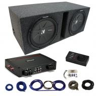 """Kicker Car Audio Class D Sub Amp Amplifier with Kicker 15"""" CompR CWR15 Series Sub 800W RMS 2..."""